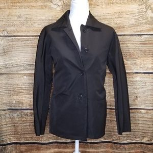 MaxMara Black Button Up Jacket Size 6